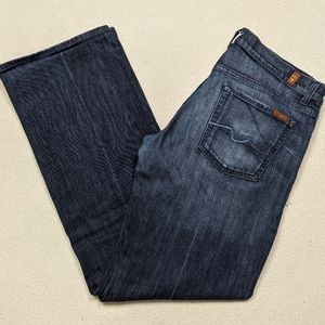 7 All Mankind Relaxed Button Fly Indigo Jean 34x33